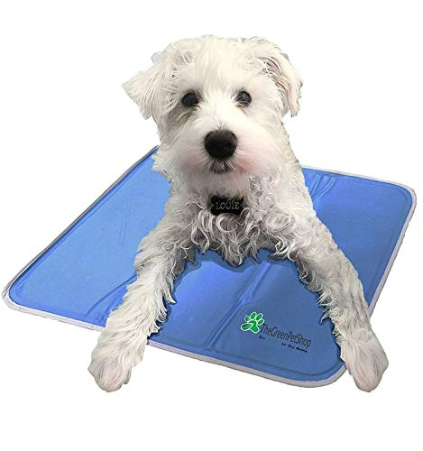 The Green Pet Shop Dog Cooling Mat- Patented Pressure-Activated Cool Gel Pad for Your Dogs and Pets - Help Your Pet Stay Cool This Summer - Chilled Relief to Avoid Overheating, Ideal for Home & Travel, Medium
