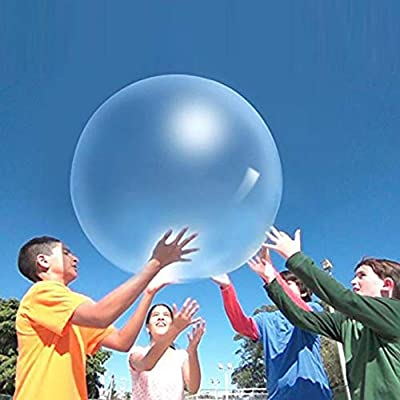 Lorfancy Bubble Ball Inflatable Fun Balls Balloon Toy Amazing Bubble Ball Water Indoor Outdoor Games Activities for Kids (Blue): Toys & Games