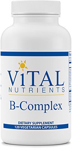 Vital Nutrients - B-Complex - Balanced High Potency B Vitamin Complex - 120 Capsules