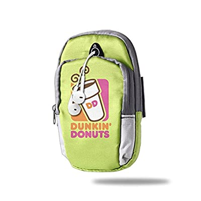 Doughnut Dunkin' D Outdoor Sports Armband Arm Package Bag Cell Phone Bag Key Holder For Iphone 6/6s/7/7p KellyGreen