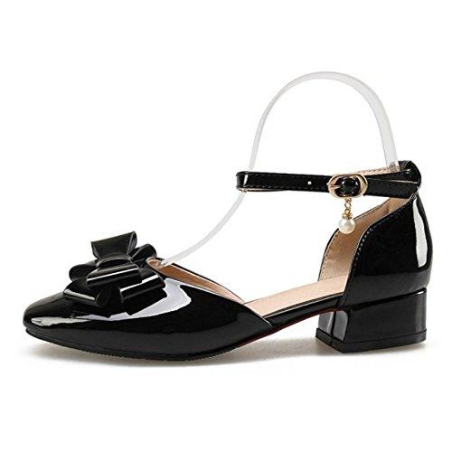 Black TAOFFEN Strap Women Ankle Sandals xxqYXv