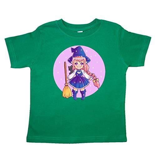 inktastic - Halloween Cute Chibi Anime Toddler T-Shirt 4T Kelly Green 369f0 ()