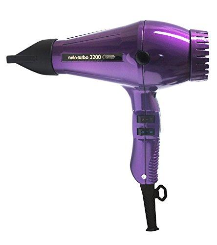 Turbo Power 3200 Twin Turbo Hair Dryer, Purple, 36 Ounce