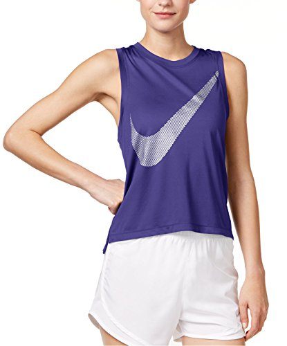 Nike Women's City Core Dry Racerback Running Tank Top,Dark ()