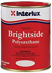 """Brightside Polyurethane is a hard, high gloss one-part polyurethane topside finish. Excellent application characteristics yield that """"sprayed on""""look when brush applied in thin coats and is ideal for use anywhere above the true waterline. Br..."""