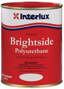 Primers Interlux (Interlux Y4359/QT Brightside Polyurethane Paint (White), 32. Fluid_Ounces)