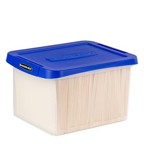 Bankers Box Heavy Duty Plastic File Box with Hanging Rails, Letter/Legal, 1 Pack (0086205)