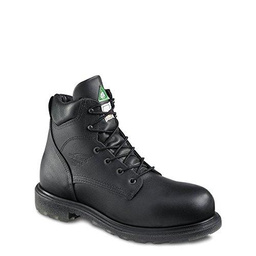 Mens 6 Chaussure De Travail (rw 3507) Bout En Acier, Risque Électrique, Résistant À La Perforation ... (3507-black Star Lthr)