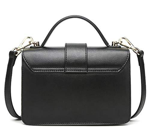 In Versione Black A Quadrata Piccola Borsa Pelle Moda Tracolla Coreana ptqxwq0R1