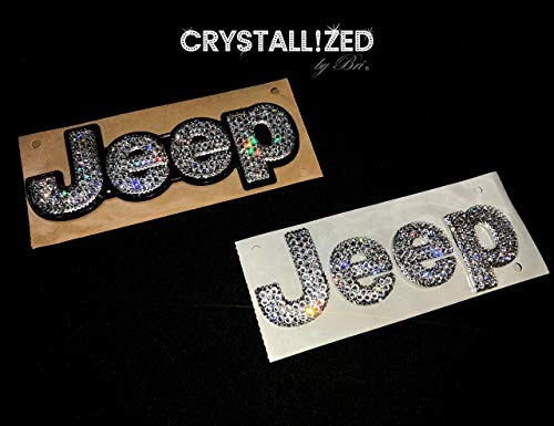 Swarovski CRYSTALLIZED Letters for JEEP Emblem Front Hood Rear Trunk Badge Bling Crystals Wrangler Cherokee