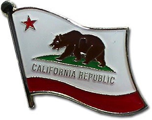 ALBATROS Pack of 12 State of California Flag Lapel Pin for Bike Hat and Cap for Home and Parades, Official Party, All Weather Indoors ()