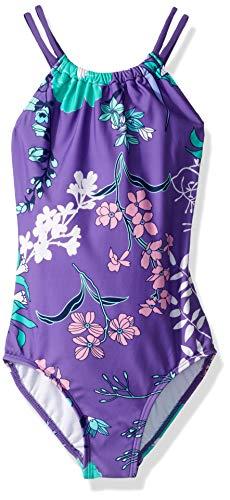 - Kanu Surf Toddler Girls' Jasmine Beach Sport Halter One Piece Swimsuit, Paige Floral Purple, 3T