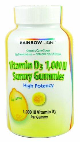 RAINBOW LIGHT VITAMIN D SUNNY GUMMIES, 100 CT by Rainbow Light
