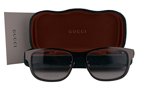 Gucci GG0013O Eyeglasses 55-16-145 Ruthenium Black 002 GG - Retro 56mm Sunglasses Gucci