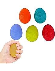 CHSG 5 Packs Siliconen Massage Therapie Grip Bal Stress Relief Ball, Handgreepsterktetrainer, Voor Volwassenen En Kinderen, Ronde Vorm, Vinger En Versterking, Geweldig Voor Fysieke Revalidatie
