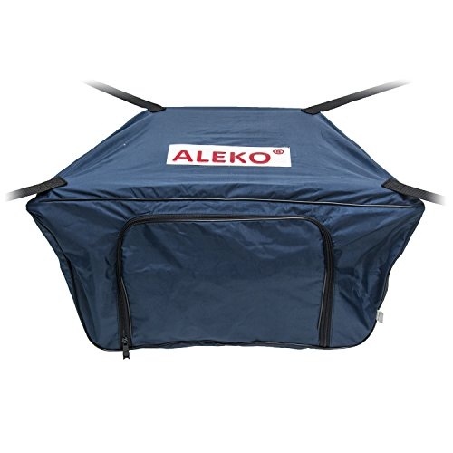 ALEKO BTFB250B Front Bow Storage Bag Gear Pouch for 8.5 Foot Boats Water Resistant 26 x 16 Inches Blue
