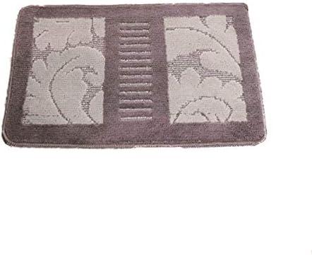 CQIANG バスルームマット、フロアマットドアマット、バスルームマット、トイレのドアマット、バスルーム滑り止めマット、ドアカーペット、40cm * 60cm、 (Color : Gray, Size : 40*60cm)