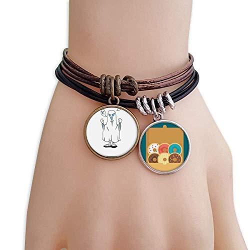 cold master DIY lab Egypt Mummy Halloween Specter Horus Bracelet Rope Doughnut Wristband]()