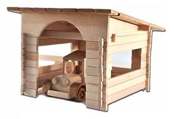Garage Selbstbau Set : Garage zum selbstbau holz spielzeug massiv selber bauen kinder