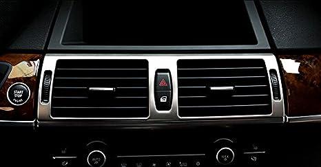 Medio interior de acero inoxidable consola aire acondicionado Vent Outlet Cover Trim 1pcs para coche accesorios bmx6: Amazon.es: Coche y moto