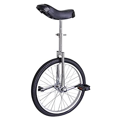 "Astonishing Chrome 20 Inch In Mountain Bike Wheel 20"" Frame Unicycle Cycling Bike With Comfortable Release Saddle Seat"