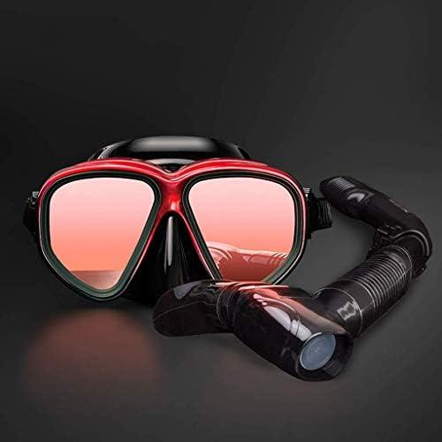 ダイビングゴーグル、スイミングスポーツ用品ゴーグルシュノーケリングダイビング用品ゴーグル呼吸チューブプラスチック近視マスクセットHd防水