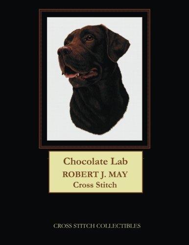 Chocolate Lab: Robt. J. May dog cross stitch pattern