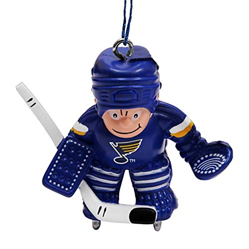 Final Touch Gifts St Louis Blues Hockey Goalie Player Christmas Ornament