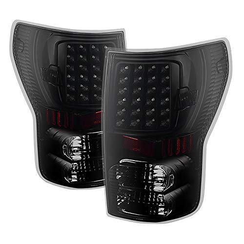For 2007-2013 Tundra Midnight Black Smoked LED Performance Tail Lights Rear Brake Pair L+R/2008 2009 2010 2011 - Performance High Motor Tail