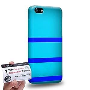 Case88 [Apple iPhone 5C] 3D impresa Carcasa/Funda dura para & Tarjeta de garantía - Art Design Cyan Bumblebee