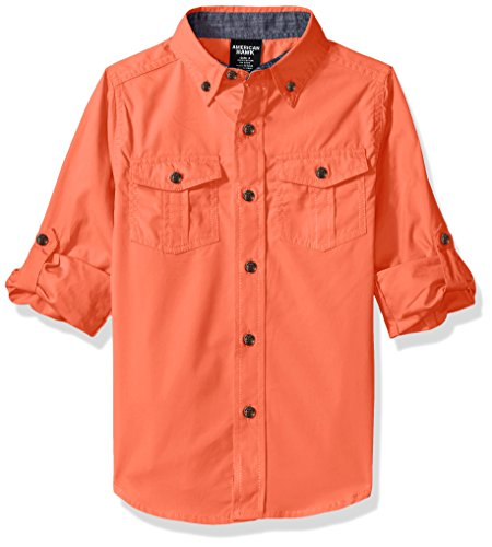 American Hawk Boys Long Sleeve Chambray Sport Shirt (More Styles Available)