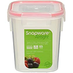 Snapware Airtight 2.8 cup Rectangle with Red Seal (3, Small)