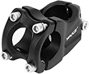 welltop Bike Stem 31.8mm 50mm 30 Degree Carbon Mountain Bicycle Stem Short Handlebar Stem Suitable for Most Bi