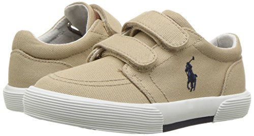 Polo Ralph Lauren Kids Boys' Faxon II Sneaker, Khaki Cotton, 10 M US Toddler by Polo Ralph Lauren (Image #6)