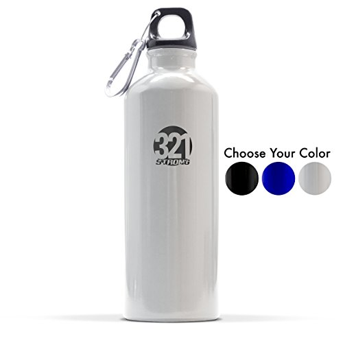 Aluminum Drinking Bottle - 321 STRONG 500 mL (16.9 Fluid Ounce) Aluminum Water Bottle, Metallic Silver