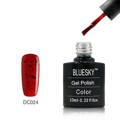 DC024 Bluesky Salon Nail Polish UV GEL Glaze Tomato Red Blac