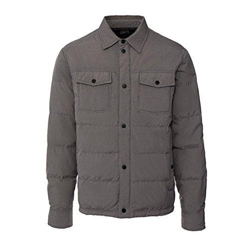 Men's Packable Down Shirt Jacket, Warm Gray Melange, Large Down Fill Jacket