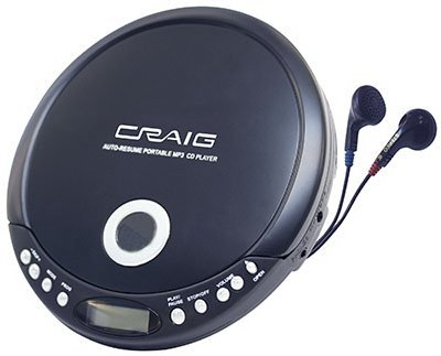 Craig Electronics Portable CD/MP3 Player with 120 Second Anti Skip