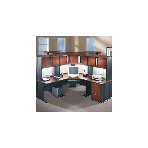 [Bush BBF A-Series Cubicle Office Set in Hansen Cherry] (Series Cubicle Office Set)
