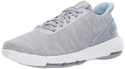 Reebok Women's Cloudride DMX 4.0 Walking Shoe, Cold Grey/Cool Shadow/Denim Glow/White, 8.5 M US