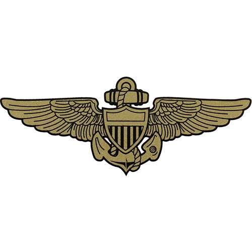 US Navy Aviator Badge Small Clear Decal