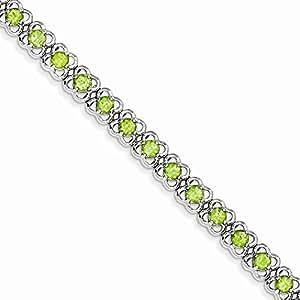 Sterling Silver Peridot Bracelet - Sterling Silver Peridot Bracelet