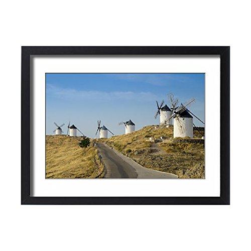 Framed 24x18 Print of Don Quixote windmills, Consuegra, Castile-La Mancha, Spain, Europe (12397952)