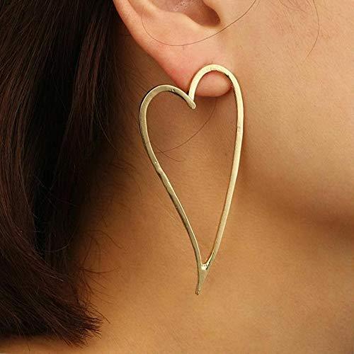 Wausa Trendy Punk Jewelry Metal Statement Dangle Drop Earrings Big Gold Geometric   Model ERRNGS - 6928  