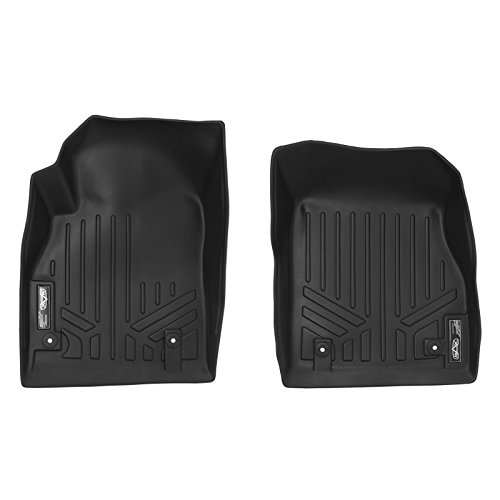 SMARTLINER Floor Mats 1st Row Liner Set Black for 2011-2015 Chevrolet Cruze / 2016 Cruze Limited