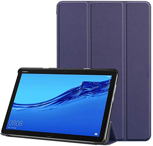 ProElite Ultra Sleek Smart Flip Case Cover for Huawei MediaPad M5 / M5 Lite 10″ Tablet – Dark Blue