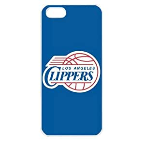 NBA Los Angeles Clippers Logo Case For Iphone 5C Cover PC Soft (White)