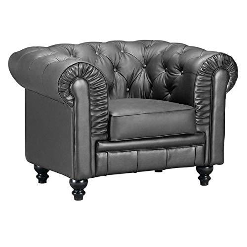 HomeRoots Aristocrat Arm Chair Black