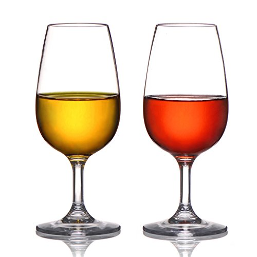MICHLEY Unbreakable Plastic Wine Glasses, 100% Tritan Shatterproof Snifter Glasses, BPA-free, Small Size 7.8 oz,Set of (Small Plastic Wine Glasses)