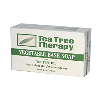 Tea Tree Therapy Pack of 8 x Vegetable Base Soap with Tea Tree Oil – 3.9 oz